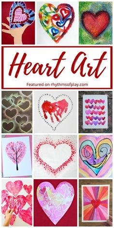 Heart shaped art pro Heart shaped art projects are fun for kids (and adults) to make for Valentine's Day Mother's Day and Father's Day. Included are easy heart arts and crafts that make great gift ideas. Make some heart art for someone you love today! Arts And Crafts For Adults, Valentine's Day Crafts For Kids, Easy Arts And Crafts, Crafts For Seniors, Arts And Crafts Projects, Toddler Crafts, Art For Kids, Teen Art Projects, Craft Activities For Toddlers