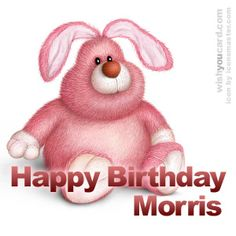 happy birthday Morris rabbit card