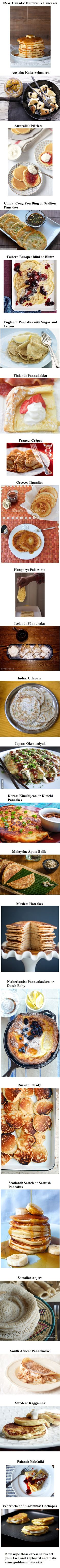 Pancakes from around the world.