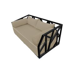 $2000.  PORCH BED.  28'' H x 71'' W x 34'' D . Wayfair - Nidum Deep Seating Daybed with Cushions