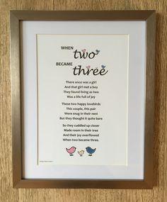 Ilrated Poem Print For New Baby Nursery Art Gift Pas Shower Boy Framed