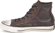 Converse All Star Studded Hi leather Καφέ σκούρο 140010C | Skroutz.gr