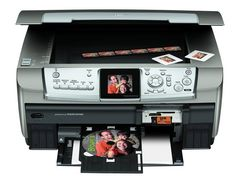 The Epson Stylus Photo has a large flatbed scanner you can utilize to scan flat things and pages from bound books, something you can't make with a page-fed Laser Printer, Inkjet Printer, Printer With Cheapest Ink, Light Fest, Printers On Sale, Portable Printer, Printer Driver, Photo Printer, Mac Os