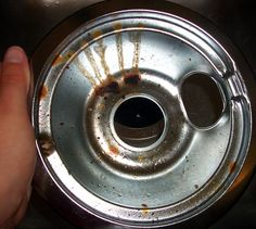 How to Clean Nasty Drip Pans -WD 40 who would have guessed ?