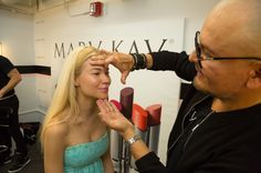 Episode 1: Meet the foundation pro...Mary Kay® Global Makeup Artist Luis Casco has the #ProjectRunway models looking absolutely flawless! #MKLove
