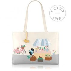 Market Day,Large Zip-top Tote
