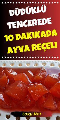 Today we are with one of the quick recipes. In 10 minutes . 10 dakikada ayva reçeli yap Today we are with one of the quick recipes. Make quince jam in 10 minutes - Instant Recipes, Quick Recipes, Cookie Recipes, Dessert Recipes, Turkish Sweets, Best Oatmeal, Frozen Yogurt, Snacks, Good Food