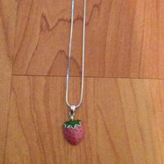 Strawberry  necklace Strawberry Jewelry Necklaces