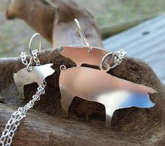 Silver Pig Necklace Show Pig Pendant by BluegrassEngraving on Etsy
