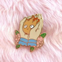 Happy Calcifer hard enamel lapel pin Enamels, Kawaii, Howls Moving Castle, Cute Pins, Pin Collection, Pin And Patches, Miyazaki, Siamese Cats, Studio Ghibli