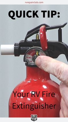 Department of Transportation codes determine what fire extinguishers are required to be included in all RV units. The RV fire extinguisher that comes standard with your unit will most likely be a 10BC extinguisher. This type of extinguisher is designed to handle electrical, motor fuel and car fires, however, it is not designed for and will not properly extinguish an ash fire on the outside of your RV. Are you up to code? Rv Camping, Camping Ideas, Ash Fire, Rv Clubs, Rv Parts, Rv Tips, Rv Trailers, Fire Extinguisher, Campers
