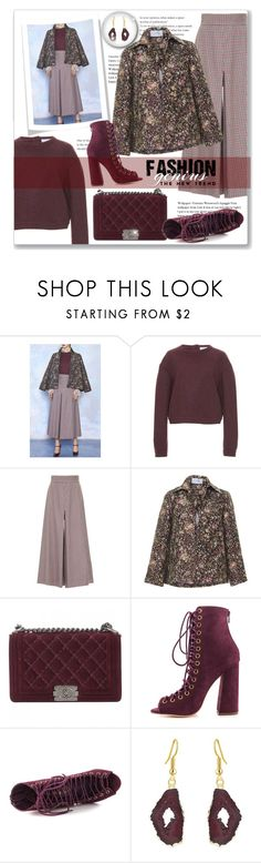 """Pattern Mixing  Fashion Genius"" by leanne-mcclean ❤ liked on Polyvore featuring LUISA BECCARIA, Colovos and Chanel"