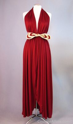 70s Polyester Disco Era Dress With A Diamond Gathered Bodice Adorned Jewels Mostly Immaculate Approx Size 10 12 Bust 34 36