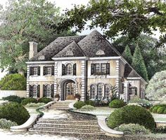 Eplans French Country House Plan - Elegantly European - 2760 Square Feet and 4 Bedrooms from Eplans - House Plan Code HWEPL02535