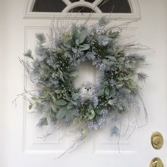 Winter Wreath-Snowy Owl Wreath-Christmas Wreath-Country Wreath-Regina's Garden Owl Wreath-Rustic Wreath-Snowy Evergreen Wreath by ReginasGarden on Etsy https://www.etsy.com/listing/258453363/winter-wreath-snowy-owl-wreath-christmas