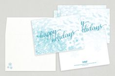 Happy Holidays Script Greeting Card Template — Share your holiday spirit far and wide with this simple yet elegant design.