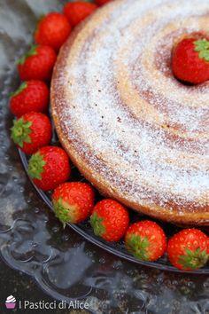 Strawberry Zebra Cake