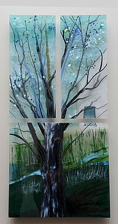 View from My Bedroom Window by Alice Benvie Gebhart (Art Glass Wall Art) | Artful Home