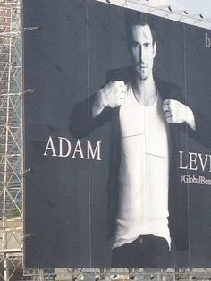 Billboard of Adam Levine for Bench along the stretch of EDSA avenue (Guadalupe bridge), Philippines.     *credits to the owner of the pic, Maroon 5 Philippines*