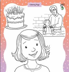 Great to be 8 Coloring Page  ||  LDS Baptism