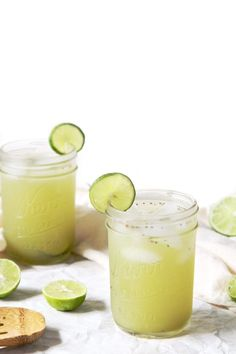 Matcha Green Tea Limeades | Refreshing for a hot Summer day! Make a batch and serve it at your next backyard barbecue. /PlantPhilosophy/