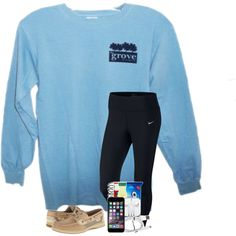 A fashion look from February 2018 featuring NIKE leggings and Sperry athletic shoes. Browse and shop related looks.