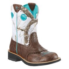 Ariat Women's Brown Fatbaby Crinkle Camo Snowflake Cowboy Boots   WANT!