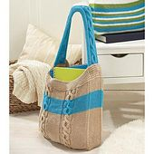 Ravelry: Cabled Bag pattern by Willow Yarns Design Team