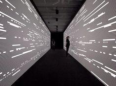 installation by Ryoji Ikeda Interactive Walls, Interactive Installation, Installation Art, Exhibition Display, Exhibition Space, Environmental Graphics, Environmental Design, Digital Signage, Digital Wall