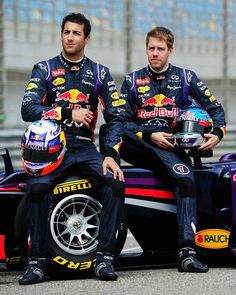 Sebastian Vettel, Daniel Ricciardo and Red Bull Formula 1 Racing