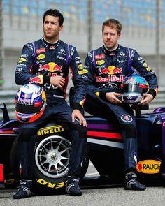 Sebastian Vettel, Daniel Ricciardo and Red Bull Formula 1 Racing
