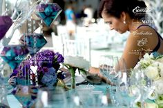 DECORATIUNI NUNTA AQUA  PAPAER DIAMONDS - WEDDING MADE BY TONI MALLONI & EVENTURE CO. | LOCATIE CLUB SNAGOV