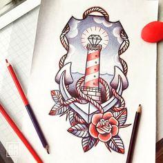 Essa aqui na perna... sem comentários! #instatattoo #sketch #ilustracion #tattoos #alltattooladies #inspiration #ancora