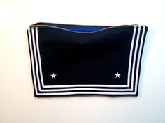 Clutch+from+Vintage+Navy+Uniform+by+FritzandFraulein+on+Etsy,+$125.00
