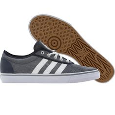 Adidas Skate Adi Ease shoes in college navy, runninwhite, and aluminum. $59.99