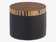 DAKOTA BLACKS Bamboo Small black storage jar - View all- HabitatUK