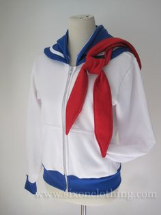 Soldier of Love and Justice. Be a pretty sailor soldier in this Sailor Moon Seifuku Hoodie! The sailor collar is inspired from Japanese school uniforms with a white strip that wraps around the front t