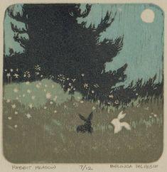 Reduction Linocut Printed in Four Colors without a Press - Belinda Del Pesco Woodcut Art, Linocut Prints, Arte Van Gogh, Linoleum Block Printing, Channel Art, Wood Engraving, Tampons, Gravure, Fine Art Gallery