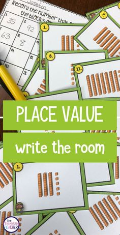 I love to use write the room activities in my classroom. I use at least one every week. My grade class loves how engaging and fun they are! This place value activity is a way to get your students to practice with tens and ones while they are having Math Classroom, Kindergarten Math, Teaching Math, Future Classroom, Teaching Ideas, Classroom Ideas, Math Place Value, Place Values, Math Resources