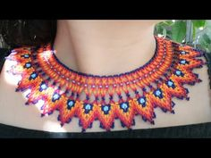 Collar picos en chaquira Embera #1 - YouTube Beading Tutorials, Jewelry Art, Jewellery, Crochet Necklace, Koi, Beads, Sewing, Diy Videos, Youtube