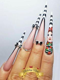 pin up girl nails❤❤❤ Girls Nails, Pin Up Girls, Baby Girl Nails