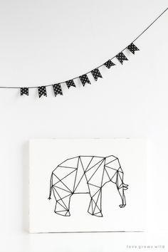 DIY: Animal geométrico