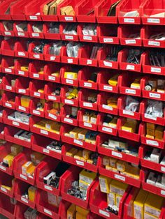 Industrial parts storage and material handling help save time and money.