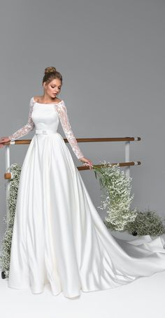 Eva Lendel Wedding Dresses - Eva Bridal Collection - Eva Lendel – Eva Bridal Collection, Simple wedding dress,Mermaid wedding dress,wedding dresses,be - Lace Wedding Dress With Sleeves, Long Sleeve Wedding, Modest Wedding Dresses, Perfect Wedding Dress, Bridal Dresses, Dress Wedding, Lace Sleeves, Sleeve Wedding Dresses, Wedding Ceremony