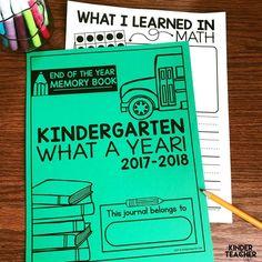 End of the Year Memory Book Freebie! Writing Center Kindergarten, Kindergarten Special Education, Kindergarten Freebies, Kindergarten Language Arts, Kindergarten Activities, Kindergarten Handwriting, Handwriting Activities, Kindergarten Graduation, Kindergarten Classroom