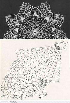 "Photo from album ""Дуплет on - Her Crochet Free Crochet Doily Patterns, Crochet Doily Diagram, Crochet Mandala, Crochet Chart, Crochet Designs, Crochet Doilies, Col Crochet, Crochet Home, Thread Crochet"