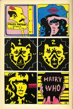 "A page from ""The Portable Hairy Who"" (1966), a printed publication in comic-book form, 11 x 7 in (courtesy Pentimenti Productions)"