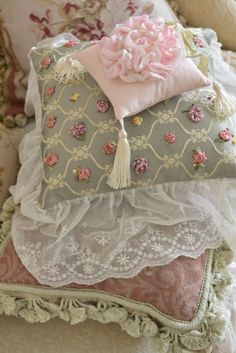 You could totally do something like this, with tons of lace, eyelet, etc...  so pretty...