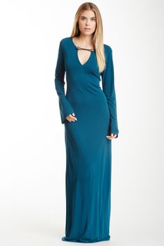 Hale Bob Long Sleeve Maxi Dress
