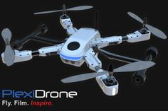 Plexidrone -- Ultra-Portable. Snap-together in 1 Minute. Capture Stunning Aerial Film & Photos with Ease!